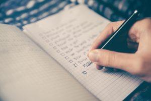write training goals down